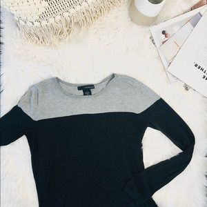 Calvin Klein grey and black light sweater